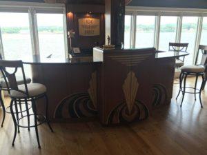 Inlaid Wood Custom Bar Design & Signage