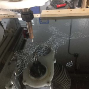 Etched Acrylic Design