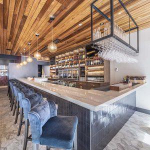 Louvino Custom Bar Cabinetry & Ceiling